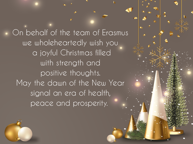 Season's Greetings & Happy New Year from the team of ERASMUS S.A.