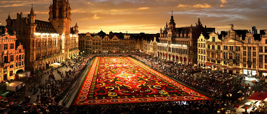 Brussels Flower Carpet Grand Place Carpet Vidalondon